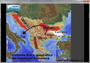 Harta - Unitatile fizico-geografice din Peninsula Balcanica