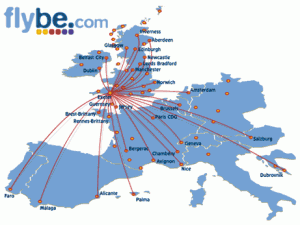Zbor Low Cost - FlyBe - Destinatii