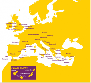 Zbor Low Cost - Monarch Airlines - Destinatii