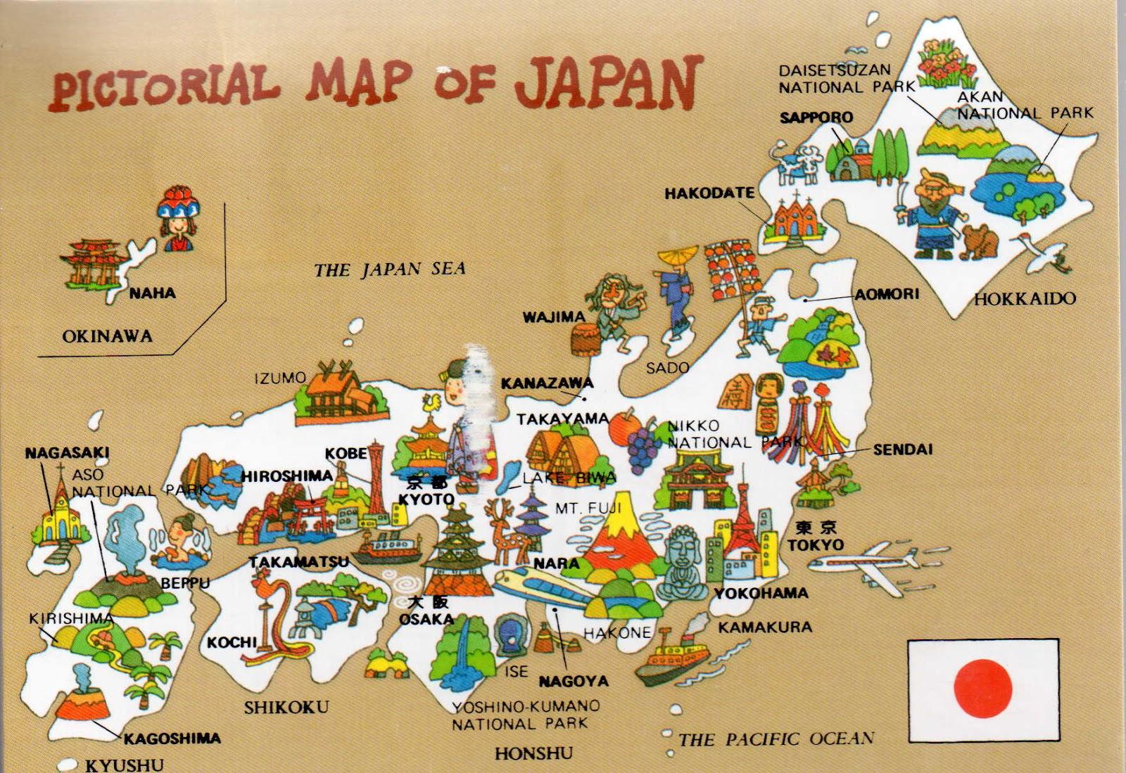 Harta Pictoriala Japonia