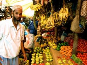 Piata in Zanzibar
