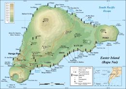 harta statui moai