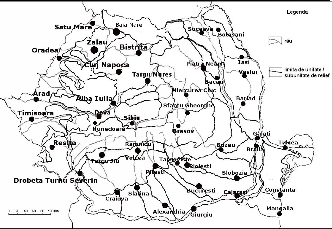 Orase Romania Harta Harta