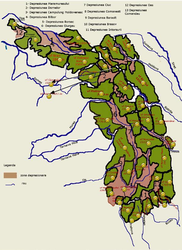 Joc identificare Carpatii Orientali